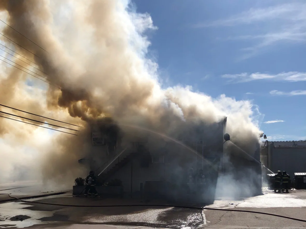 Fire at Eugene's General Store