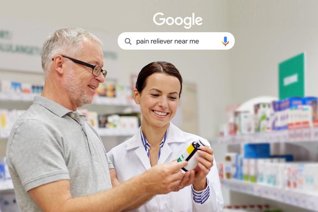 pharmacist helps customer